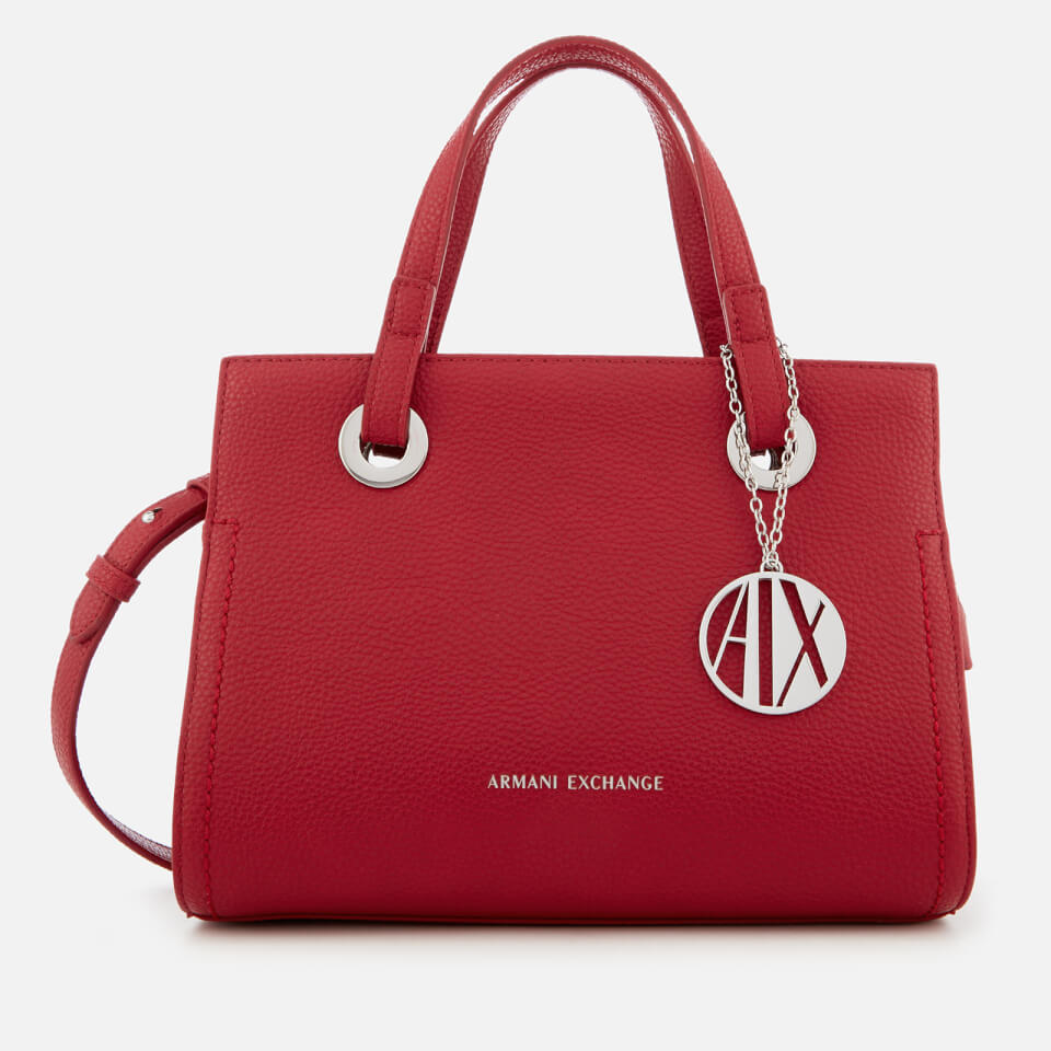 Armani Exchange Women's Small Shopper with Cross Body Bag - Royal Red
