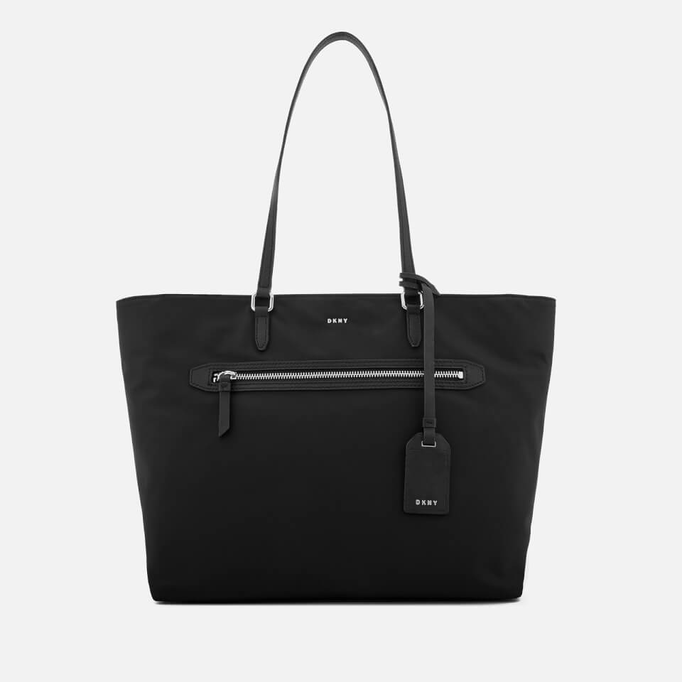 DKNY Women's Casey Large Tote Bag - Black/Silver